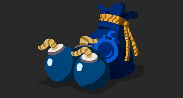 Zelda Bomb Bag Doodle
